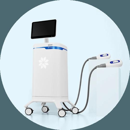 Maskin for Coolsculpting-behandling.
