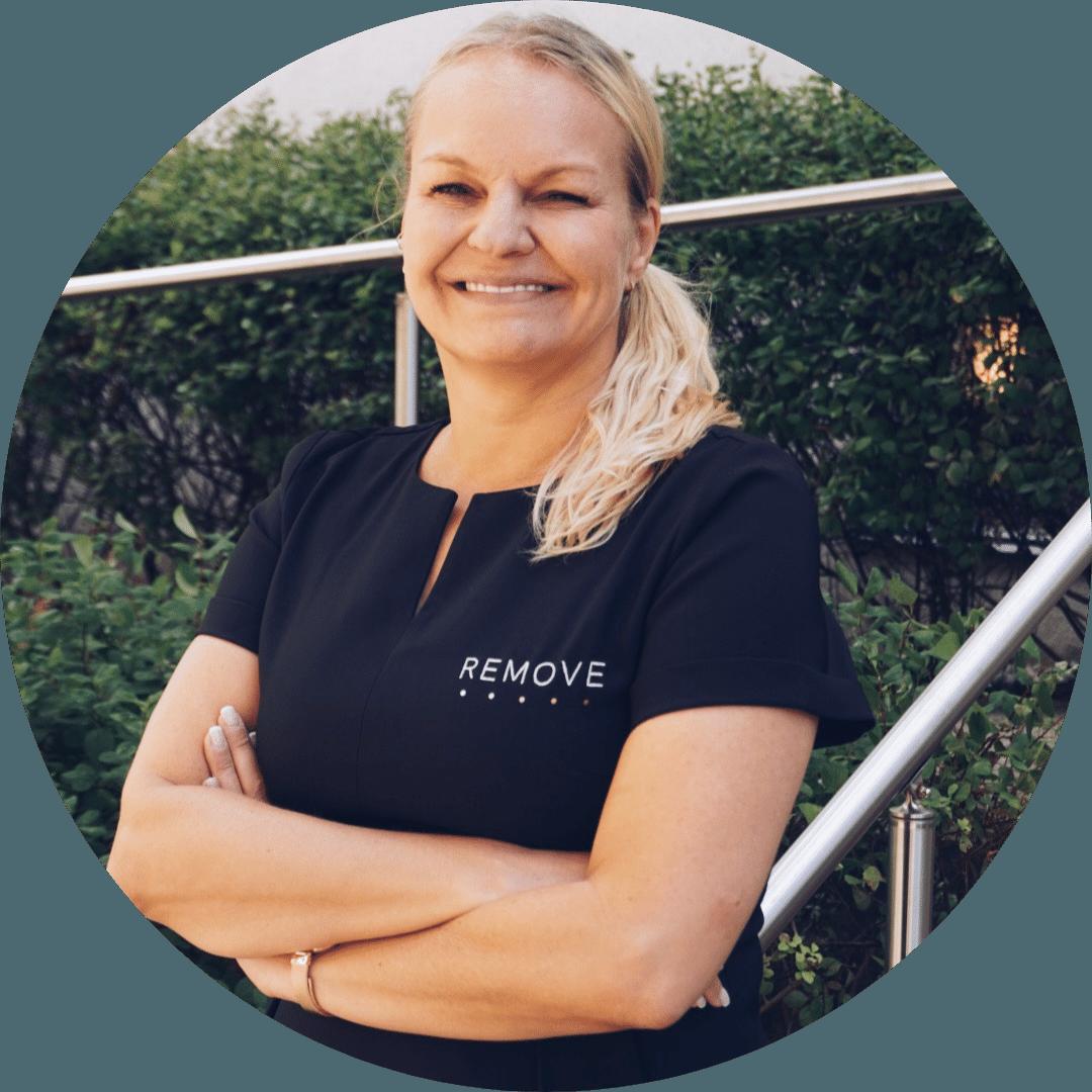 Profilbilde: Elisabeth Blomberg – Administrativ leder Remove Hudklinikk, Oslo